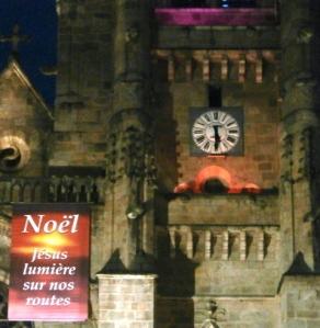 éclairage nocturne à Ambert