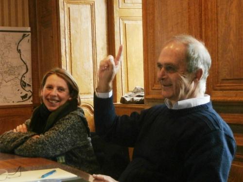 Anne-Audrey PERRIN-PATURAL (Haute-Loire) et Pierre ESCAICH (Allier) : dans la bonne humeur...