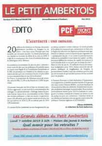 """PCF : le """"Petit ambertois"""" bientôt en ligne ; ça promet..."""