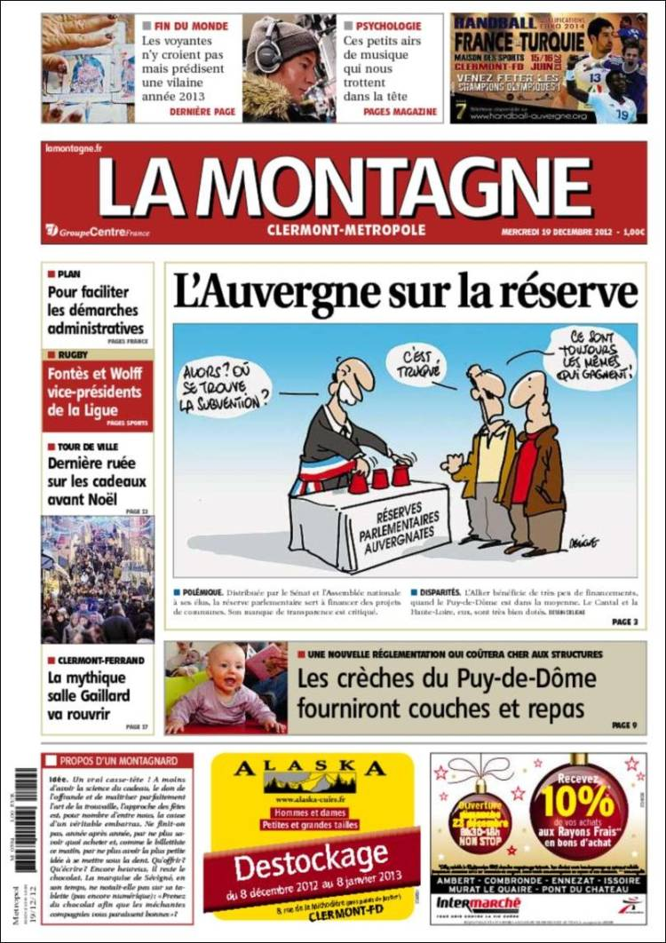 Le journal la montagne quitte ambert ambert au for Magazine le journal de la maison