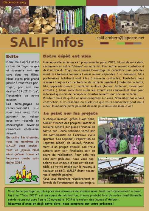 Salif infos décembre 2013