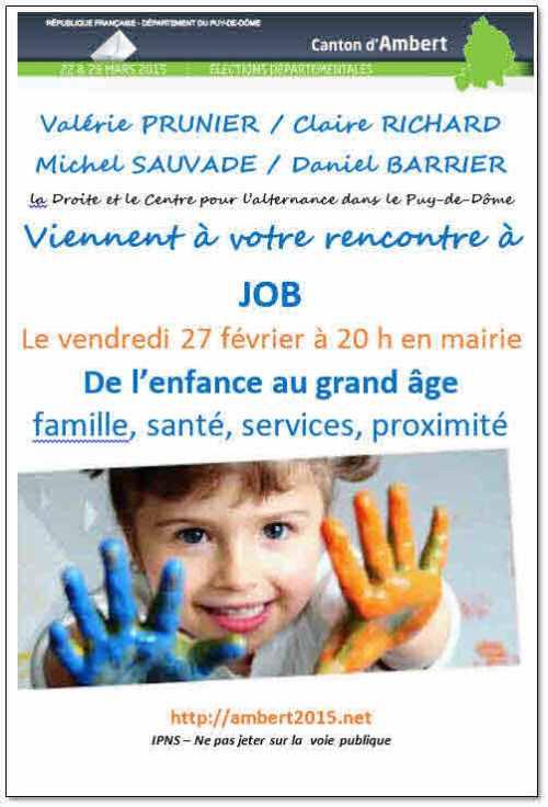 Départementales 2015, Job
