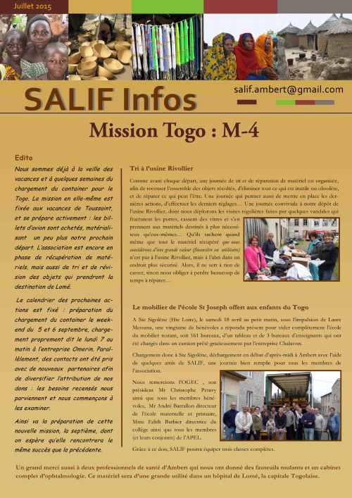Salif Infos juillet 2015