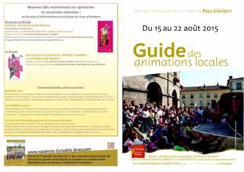 agenda du 15 AU 22 AOUT