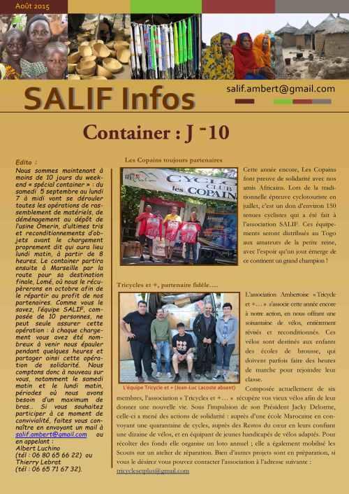 Salif infos août 2015