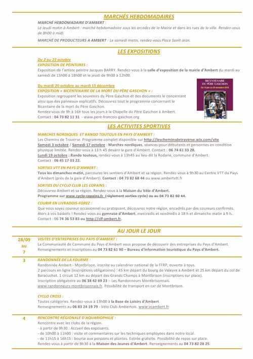 L'AGENDA D'OCTOBRE 2015 (2)