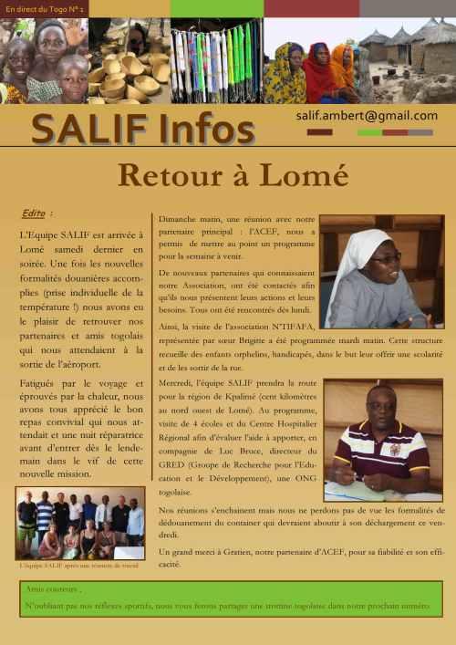 Salif infos en direct du Togo N1