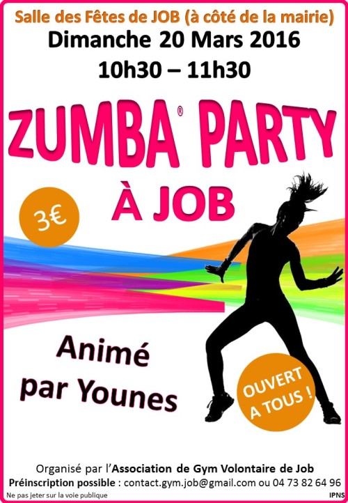 Affiche Zumba Party 20.03.2016