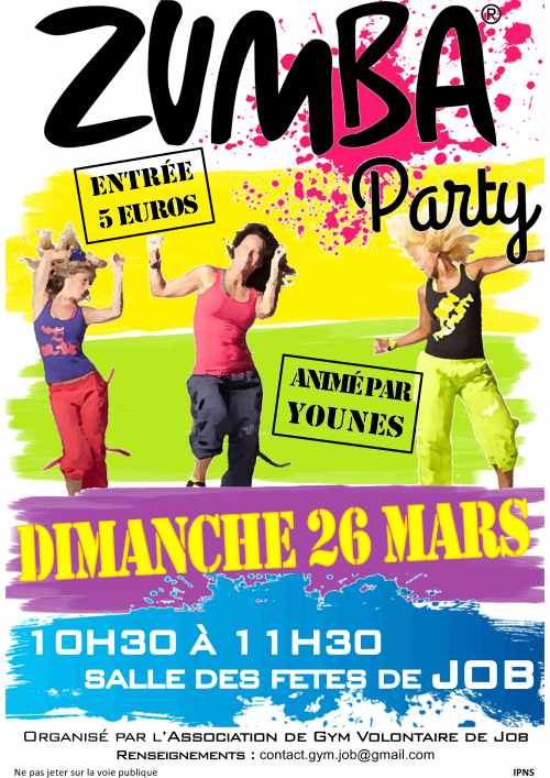 Affiche Zumba Party 26.03.2017
