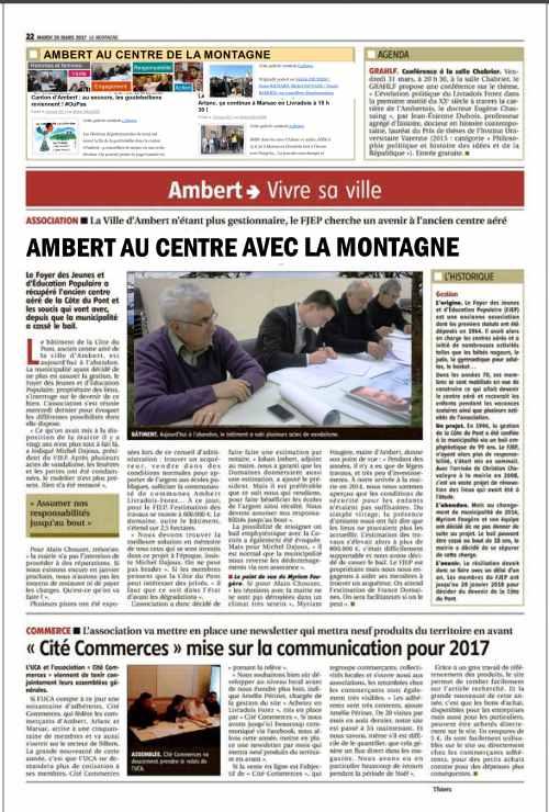 Le journal la montagne et le blog ambert au centre s associent pour mieux v - Le journal la montagne ...