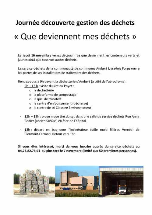 Microsoft Word - Affiche visite Déchets 16 novembre