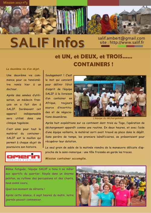 SALIF Infos N°3 mission 2017