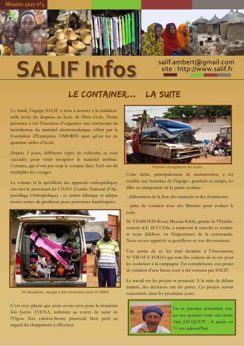 SALIF Infos N°4 mission 2017