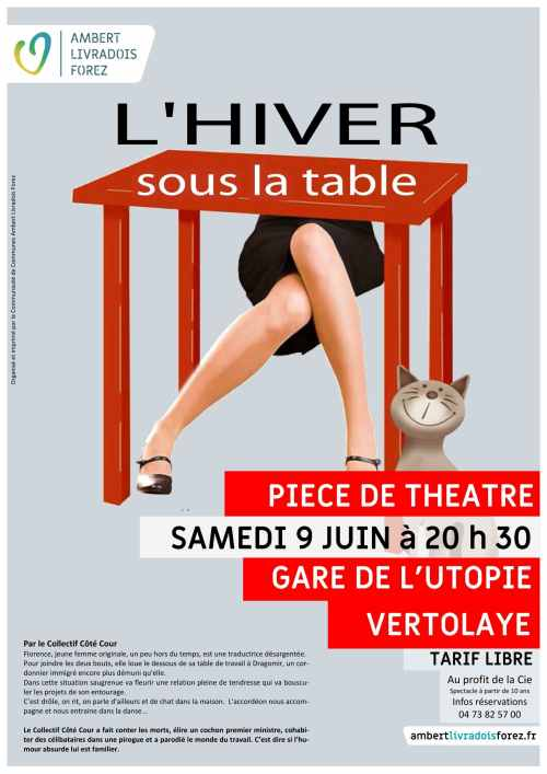 Affiche l'hiver sous la table - light